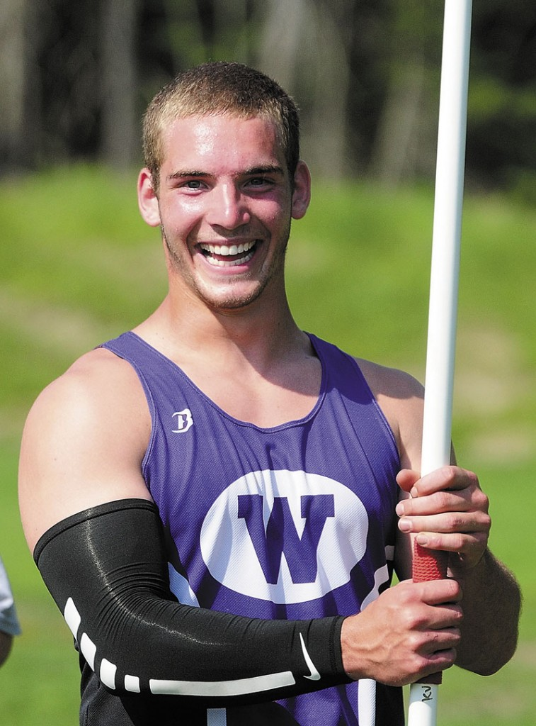 Nick Danner of Waterville is the Morning Sentinel Boys Track Athlete of the Year.
