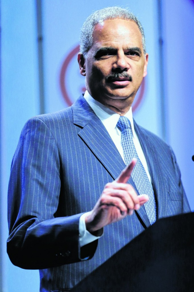 Attorney General Eric Holder speaks about voting rights Thursday at the National Urban League's annual conference in Philadelphia.
