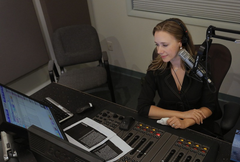 "Suzanne Nance hosts her last broadcast as host of ""Morning Classical"" on MPBN on Friday, August 23, 2013."
