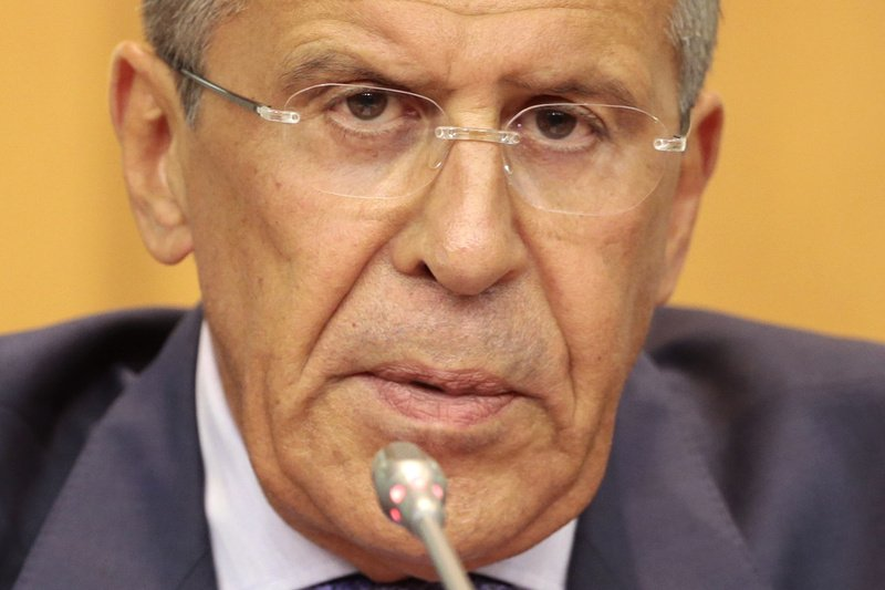 Russian Foreign Minister Sergey Lavrov says Western nations calling for military action against Syria have no proof that the Syrian government is behind the alleged chemical weapons attack.