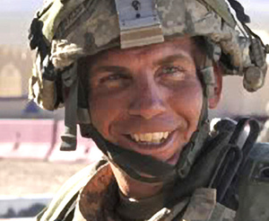 Army Staff Sgt. Robert Bales, shown during an exercise at the National Training Center at Fort Irwin, Calif.