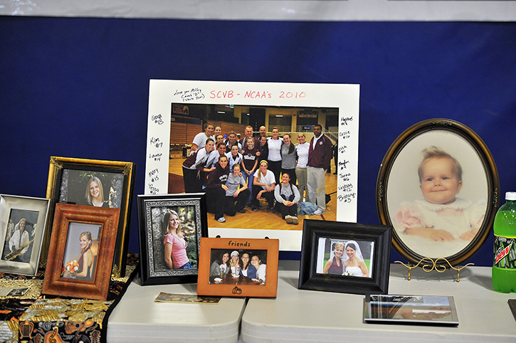 Photos of Ashley Drew were many and were shared with attendees during a reception after the service Friday at First Baptist Church in Portland.