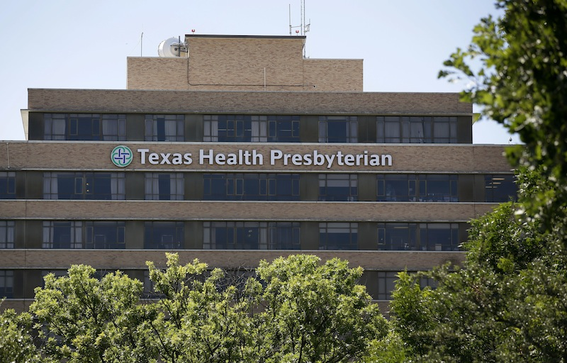 The Texas Health Presbyterian Hospital in Dallas is seen Tuesday Aug. 6, 2013. Former President George W. Bush underwent a heart procedure at the hospital Tuesday after doctors discovered a blockage in an artery. Bush spokesman Freddy Ford says a stent was inserted during the procedure. (AP Photo/Tony Gutierrez)