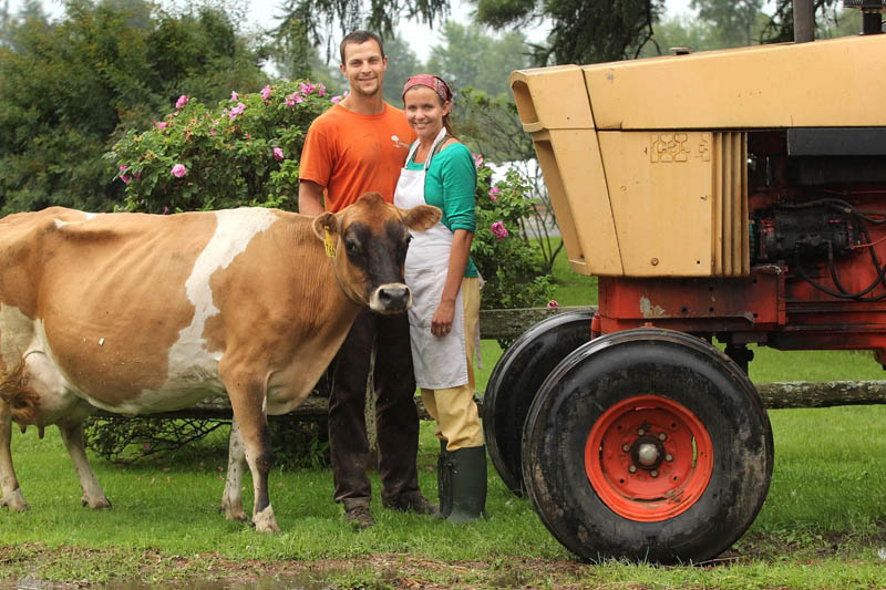 Josh and Amy Clark, of Crooked Face Creamery in Skowhegan, are third-generation farmers and first-generation cheese makers. Their whole-milk ricotta cheese recently won third place in the nation at the American Cheese Society Conference in Madison, Wis.