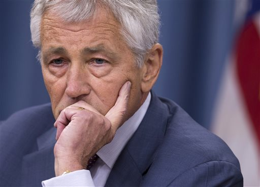 "Defense Secretary Chuck Hagel: ""We have moved assets in place to be able to fulfill and comply with whatever option the president wishes to take."""