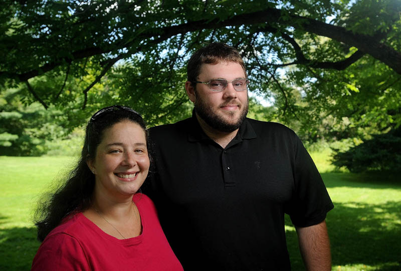 Jennifer and David Johnson are running against each other for Waterville's Ward 1 warden position. Jennifer, a Democrat, and David, a Republican, who have been married for 10 years, say they're facing off in November's election to raise interest in local offices.
