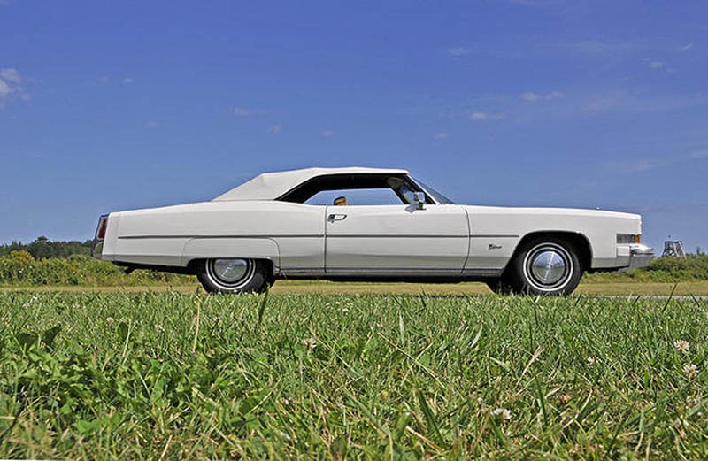 The 1974 Cadillac Eldorado convertible Amy Calder's husband sold at the New England Auto Auction at Owls Head Transportation Museum.