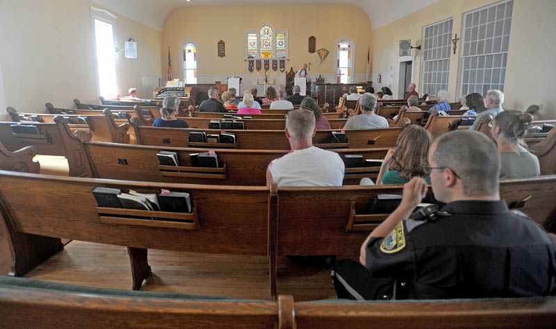 Brown Memorial United Methodist Church in Clinton offered a service honoring police and first responders of Clinton today.