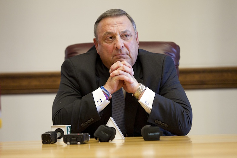 """""""We all have faults,"""" Gov. LePage told Bloomberg. """"Mine is that I can't keep my mouth shut. I promised my staff: Now until Election Day, when I want to say something that is off-color, I'm going to tape my mouth shut."""""""