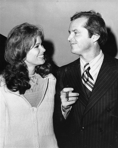 "Karen Black and Jack Nicholson attend the premiere of ""Five Easy Pieces"" at New York's Philharmonic Hall in this 1970 photo."