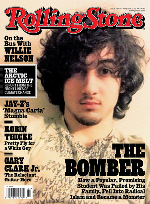 Boston Marathon bombing suspect Dzhokhar Tsarnaev appears on the cover of the Aug. 1 issue of Rolling Stone magazine.