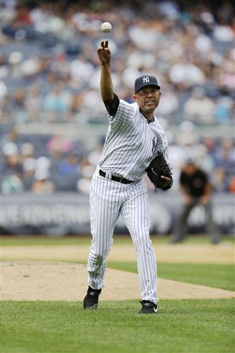 New York Yankees relief pitcher Mariano Rivera has blown his last three consecutive save opportunities, a rare feat for the future Hall of Famer.