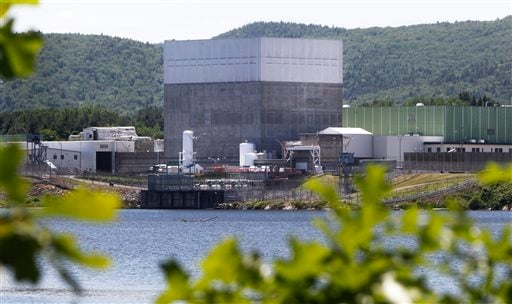 The Vermont Yankee Nuclear Power Station sits on the bank of the Connecticut River in Vernon, Vt.
