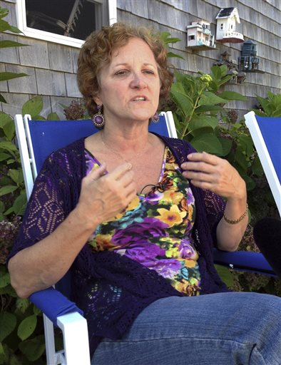 "Janet Uhlar-Tinney, a juror in the federal trial of James ""Whitey"" Bulger, discusses how the jury worked through their deliberations, during an interview at her home on Wednesday in Eastham, Mass."