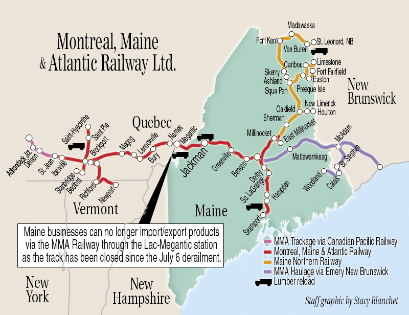 Train Disaster Rattles Maine39s Upcountry Economy  Central