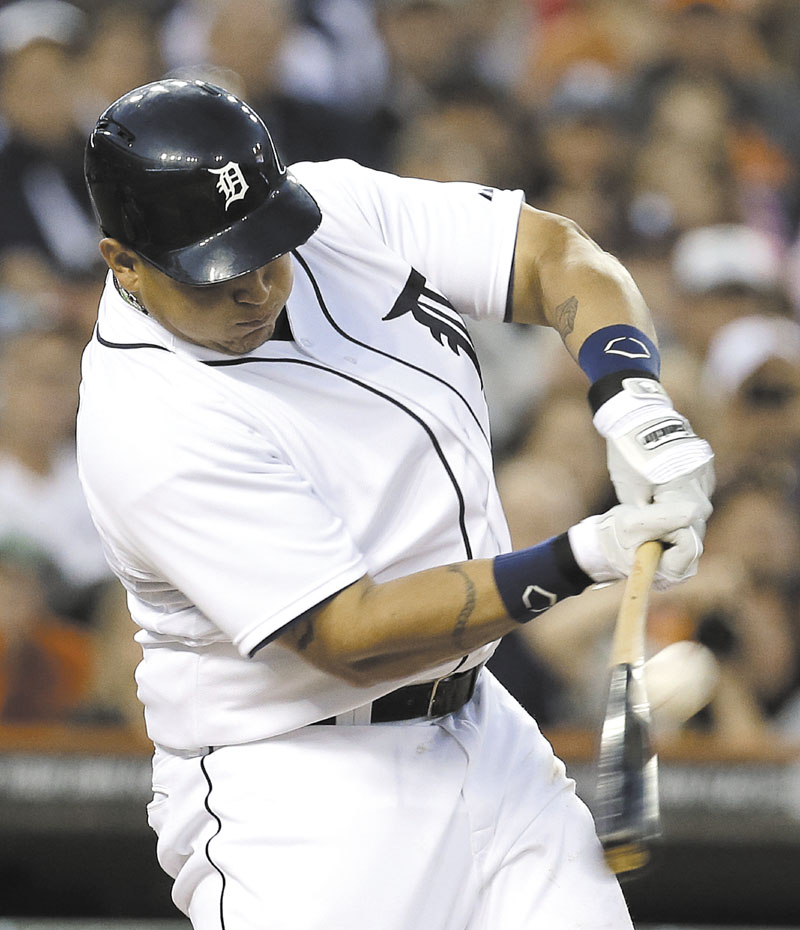 JUST GETTING STARTED: Detroit Tigers third baseman Miguel Cabrera has 1,962 hits, 410 doubles, 361 home runs and 1,243 RBI at the age of 30 years and 4 months, unheard of numbers for a player that age.