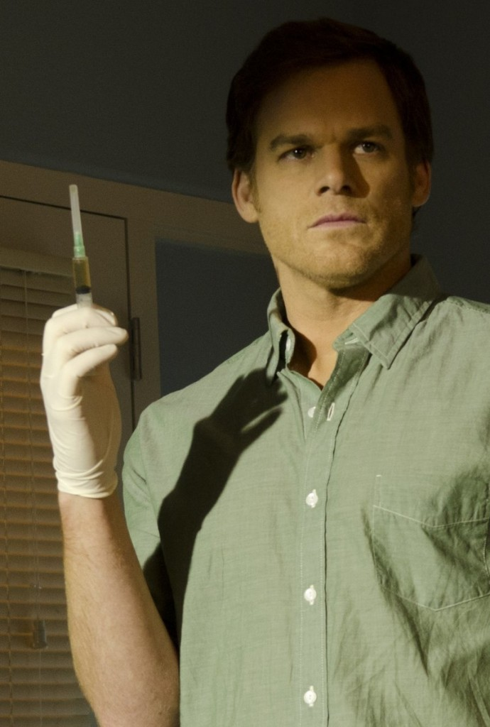 "Time Warner Cable is blacking out popular TV shows such as ""Dexter"" and ""Homeland"" because of a fight over money with the programs' owner, CBS. Above, Michael C. Hall in ""Dexter."""