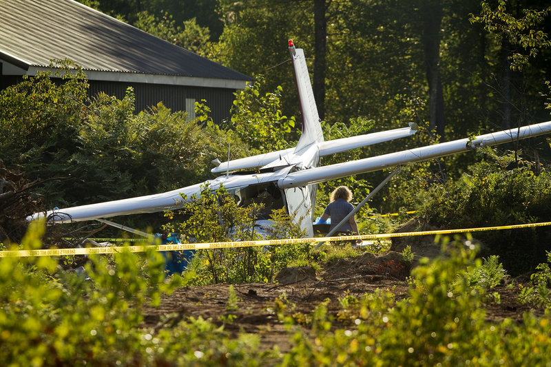 A Naples man died in the crash of this Cessna 172 airplane Friday afternoon. Authorities identified the pilot as 58-year-old Anthony Longley.