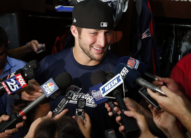 Tim Tebow says he'll keep trying to pursue his dream of being a quarterback in the NFL.