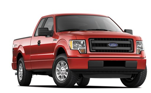This undated photo provided by Ford shows the 2014 Ford F-150 STX SuperCrew truck. Ford will try to woo more potential buyers this fall by adding a pricier four-door cab to its STX line.