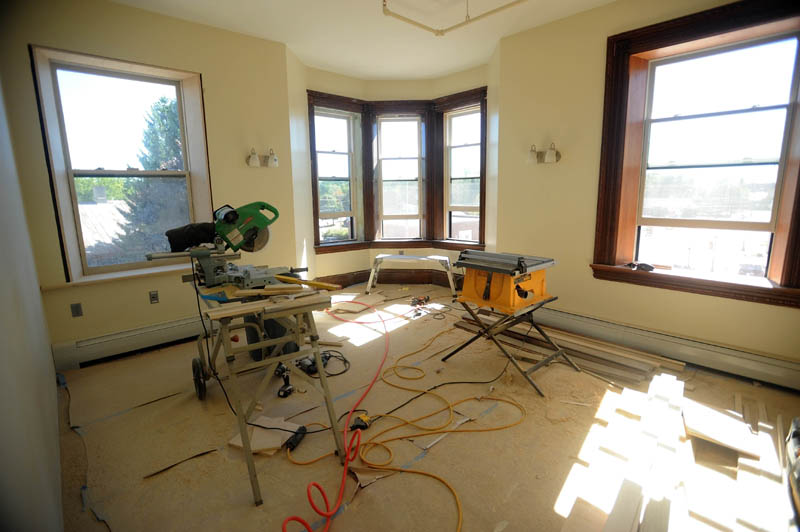 An apartment unit at the newly renovated Gerald Hotel in downtown Fairfield is pictured on Sept. 18.