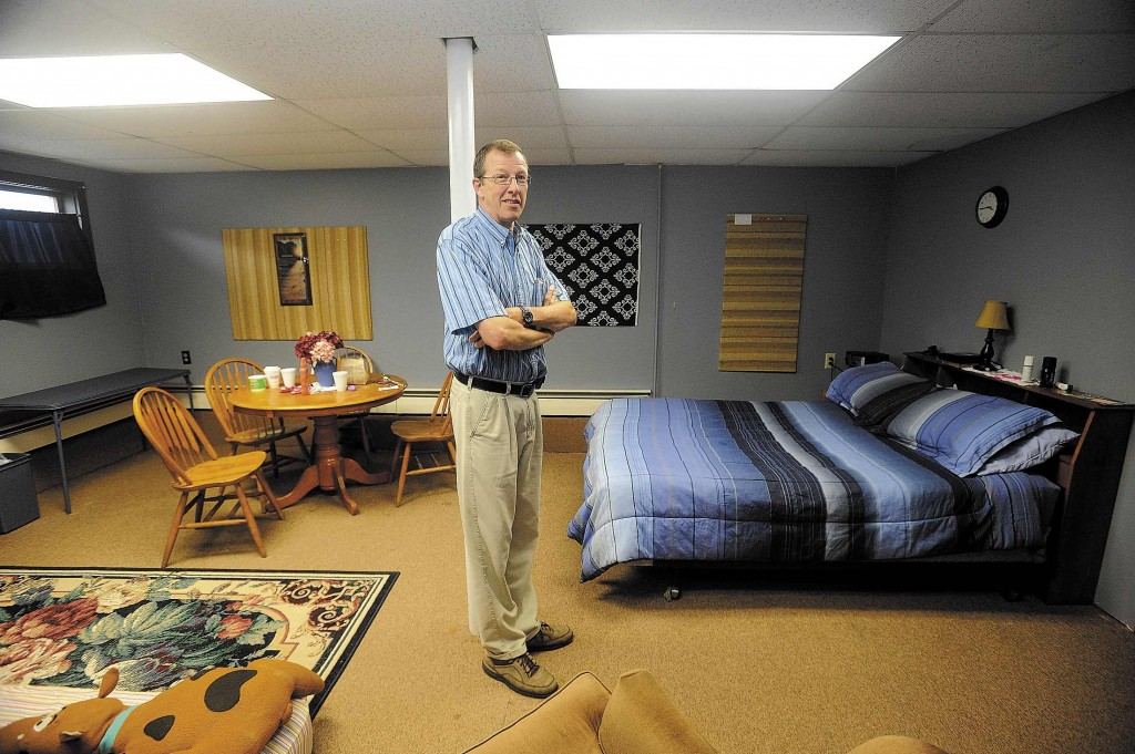 Steve Bracy is pastor of Living Waters Assembley of God Church in Farmington, where a group is working to open the first homeless shelter in Franklin County.