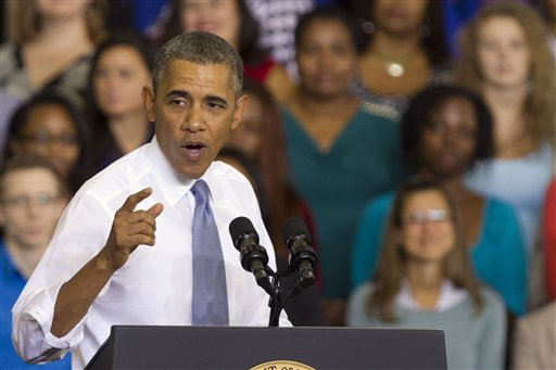 President Obama speaks about the Affordable Care Act at Prince George's Community College in Largo, Md.: