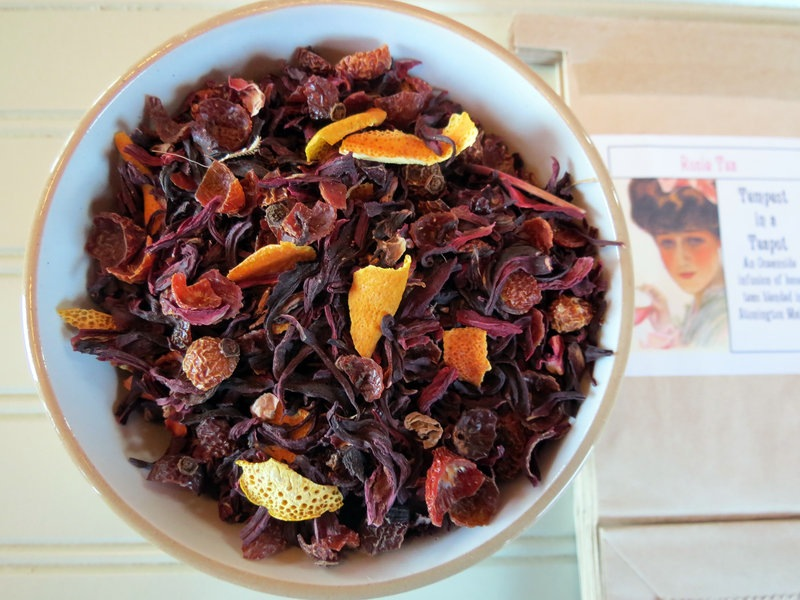 Loose-leaf tea produced by Jennifer Larrabee and Sarah Burrin, who operate Tempest in Teapot in Stonington, Maine.