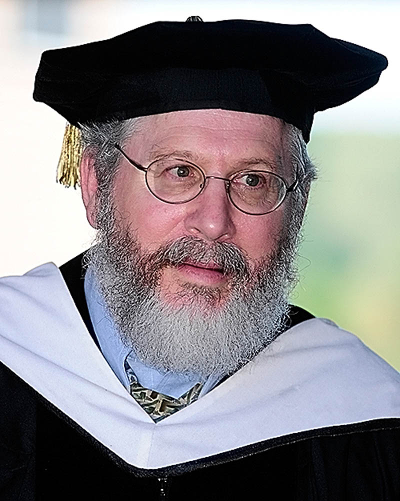 Michael Grodin, a Boston University professor, was the keynote speaker for the convocation at the University of Maine at Augusta today.