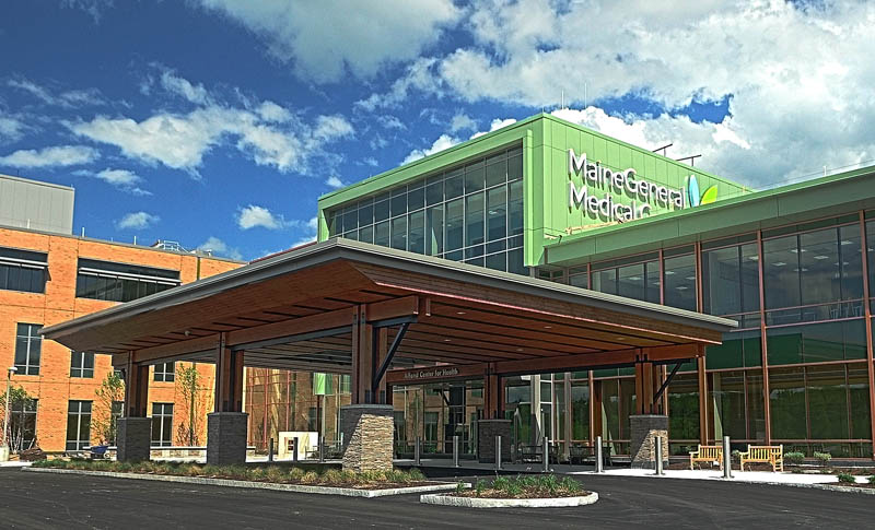 This photo taken on Aug. 14 shows the new Alfond Center for Health regional hospital in north Augusta. Moody's Investors Service has downgraded MaineGeneral's credit rating just ahead of the new $300 million-plus hospital's November opening, citing the hospital's weaker financial performance over the last fiscal year.