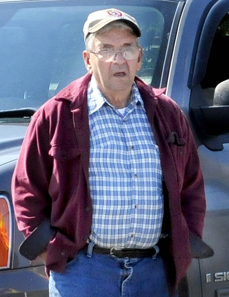 Starks town employee Ronald Giguere, 71, of Solon, was driving a town dumptruck when it hit and killed a man on the side of the road Tuesday.