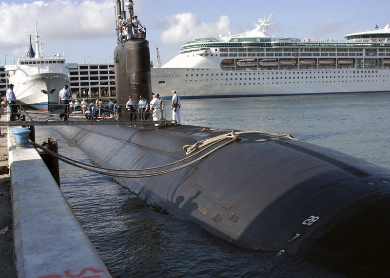 The USS Miami was damaged by a May 2012 fire set by a worker at the Portsmouth Naval Shipyard in Kittery. fleet week 2004;uss miami;ssn 755;fla