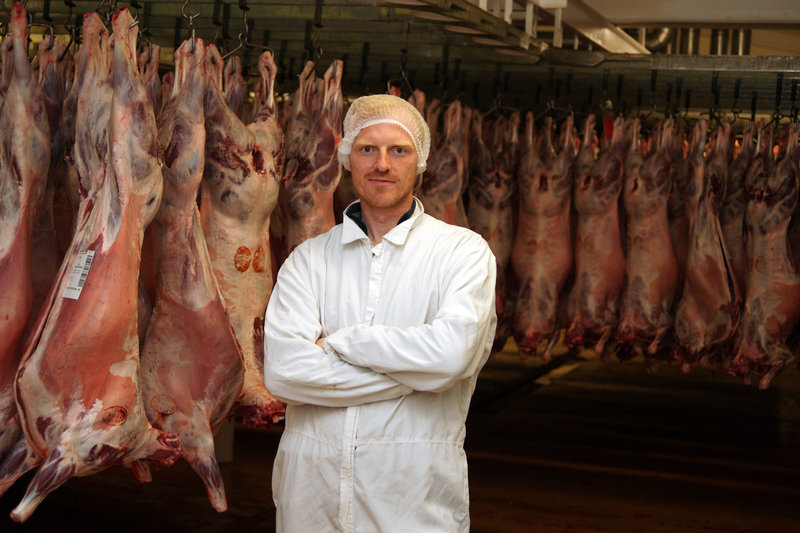 Margnus Freyt Jonsson manages the Skuh slaughterhouse in Hvammstangi in western Iceland, which will ship lamb meat to Portland for distribution in the U.S.