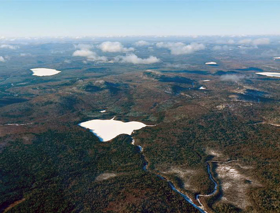 Bald Mountain, seen here with Greenlaw Pond in the foreground, is owned by J.D. Irving Ltd., which is considering mining the property for gold, silver and copper deposits. A hearing on the proposal is set for 9 a.m. Oct. 17 at the Augusta Civic Center.