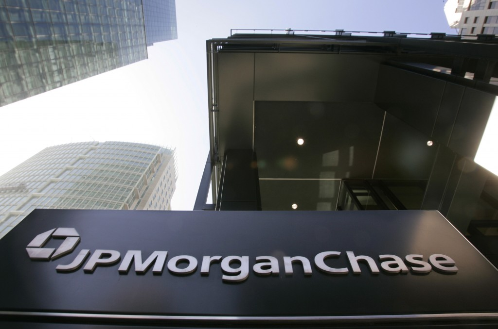 This Oct. 15, 2008, file photo, shows the exterior view of JPMorgan Chase offices in San Francisco.