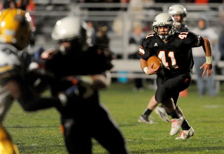 TOUGH TO TACKLE: Skowhegan Area High School running back Kaleb Brown is just 5-foot-9 but has been tough for opponents to tackle. He finished the regular season with 895 yards rushing, giving the Indians a diverse offensive attack.