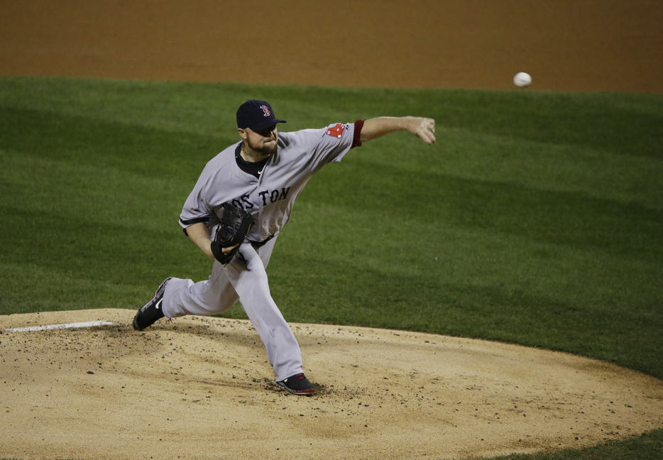 AP photo BIG GAME: Boston starting pitcher Jon Lester led the Red Sox to a victory in Game 5 of the World Series on Monday in St. Louis. Boston has a 3-2 lead in the series.