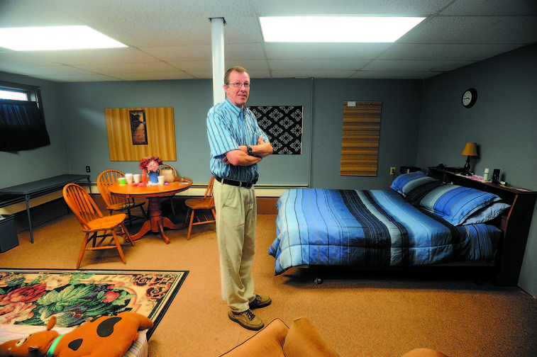 FOR THE HOMELESS: Steve Bracy is pastor of Living Waters Assembley of God Church in Farmington, where a group is working to open the first homeless shelter in Franklin County.