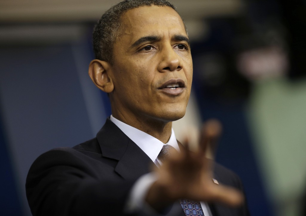 """President Obama speaks at the White House Tuesday about the budget and the partial government shutdown. The president said he told House Speaker John Boehner, R-Ohio, that he's willing to negotiate with Republicans on their priorities, but not under the threat of """"economic chaos."""""""