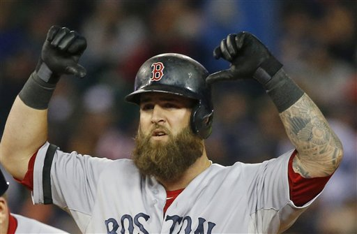 PRODUCER: First baseman Mike Napoli has played a huge role for the Red Sox in the ALCS. Napoli homered and scored two runs in Thursday's Game 6, which the Sox won 4-3 to take a 3-2 series lead.