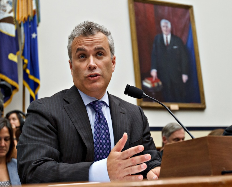 In this Aug. 1, 2012 file photo, Jeffrey Zients testifies on Capitol Hill in Washington. Obamacare's hobbled health-insurance exchange will be fixed by December, according to Zients – the management consultant asked to salvage the website – in the first timeline provided for correcting the flaws. (Obamacare's hobbled health-insurance exchange will be fixed by December, according to the management consultant asked to salvage the website, in the first timeline provided for correcting the flaw.