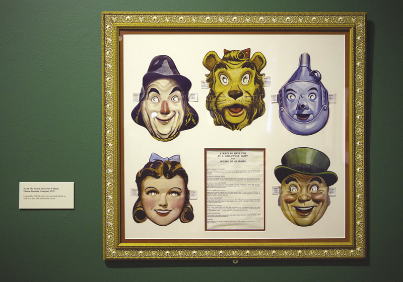 "A set of masks of characters from the movie ""The Wizard of Oz"" is displayed at the Farnsworth Museum, in Rockland."