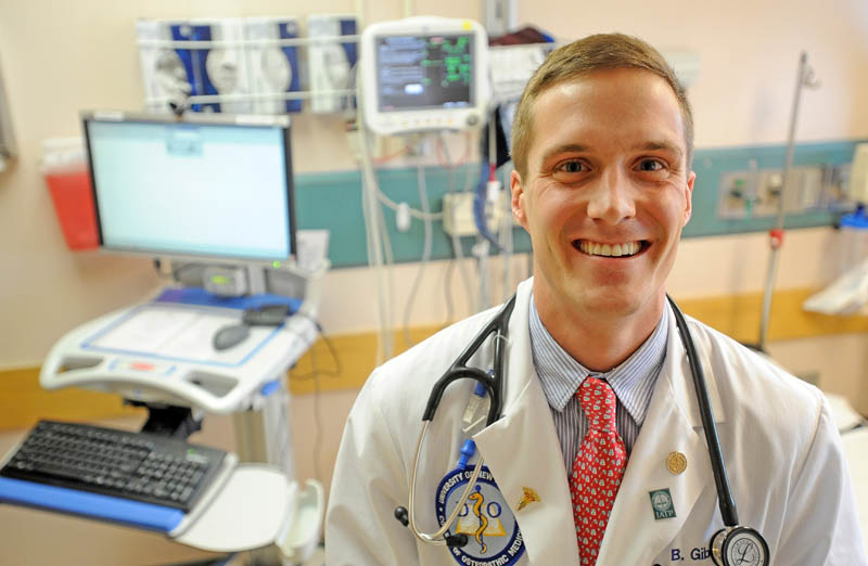 Brandon Giberson, 26, was recently recognized by the American Heart Association for research on cardiac arrest. Giberson is currently a medical student at the University of New England and is completing his residency at Redington-Fairview General Hospital in Skowhegan.