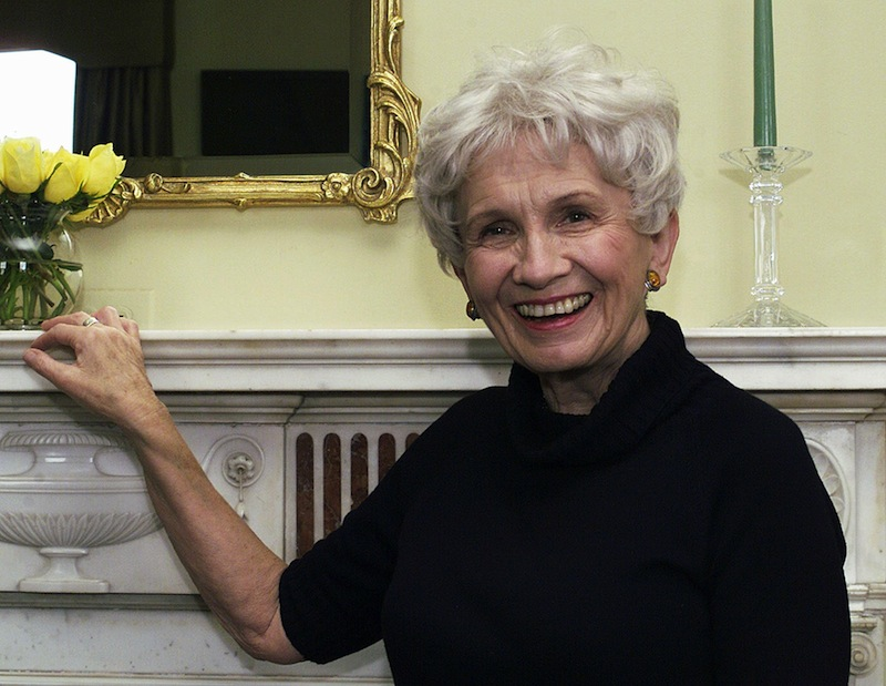 Canadian author Alice Munro poses for a photograph at the Canadian Consulate's residence in New York in this Oct. 28, 2002 file photo. Munro was Thursday Oct 10 2013 been named as 2013 Nobel laureate for literature in an an announcement made in Stockholm, Sweden.