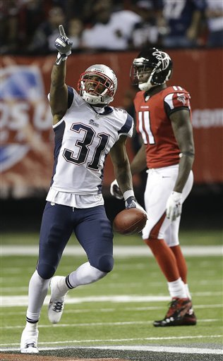 STEPPING UP: New England Patriots cornerback Aqib Talib (31) is part of a defense that has allowed only 70 points this season. New England faces New Orleans on Sunday. The Saints have scored 134 points in their five games. NFLACTION13; Georgia Dome