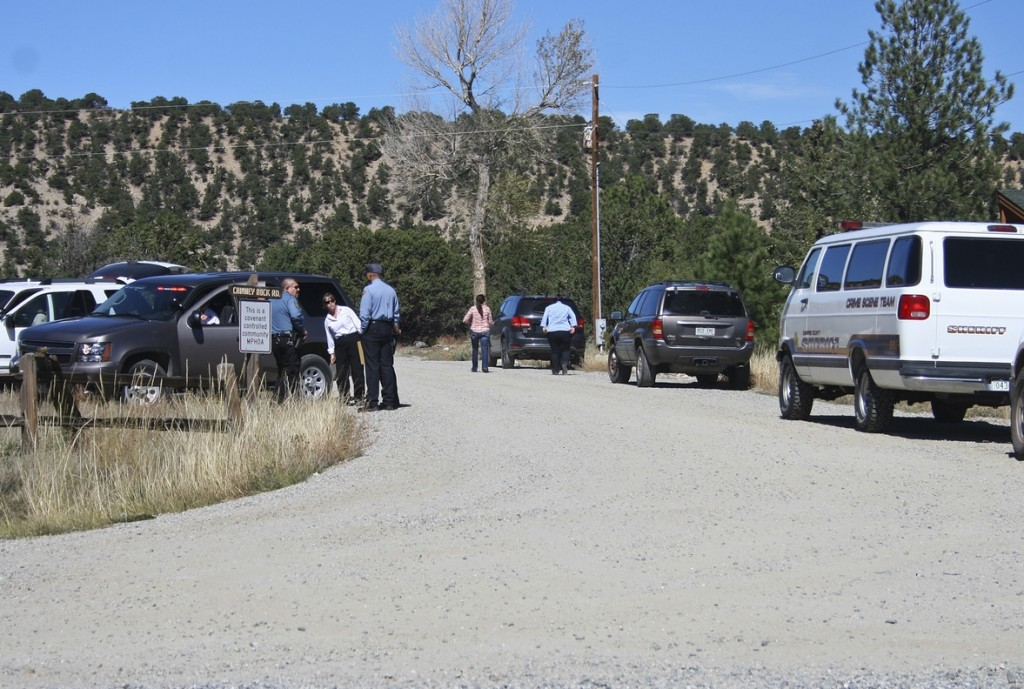 Chaffee County emergency agencies set up a command center at Chimney Rock road, off of CR 162 while they respond to a rock slide at Agnes Vaille Falls Monday.