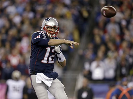 GETTING IT DONE: Quarterback Tom Brady led the Patriots to a 30-27 win over the New Olrean Saints on Sunday, driving 70 yards in the final 73 seconds for the game-winning touchdown.