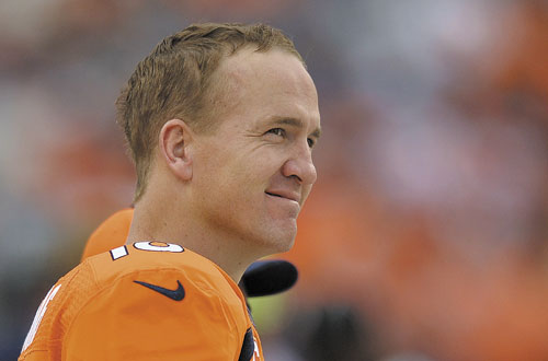 THINKING MAN: Denver Broncos quarterback Peyton Manning returns to Indianapolis on Sunday a better quarterback than the one who left.