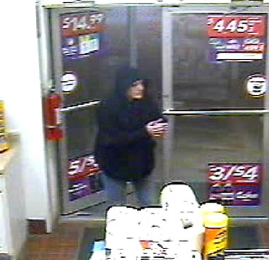 Police released this video surveillance image of Cynthia Chepke, 48, formerly of West Gardiner, who robbed the Circle K in Farmingdale on Jan. 27.