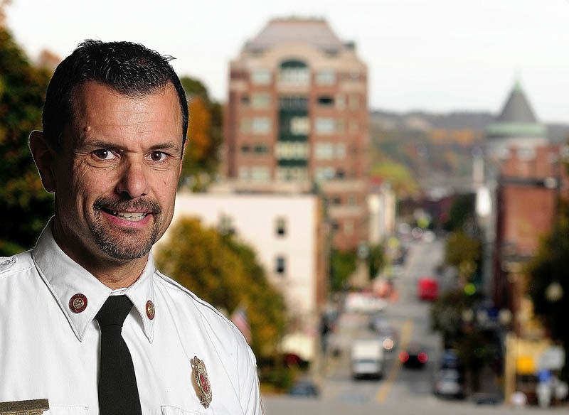 Augusta Fire Chief Roger Audette at Hartford Station on the hill above downtown Augusta.